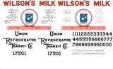 Wilson's Milk Decals for the R-30-9 and R-40-9 Reefer