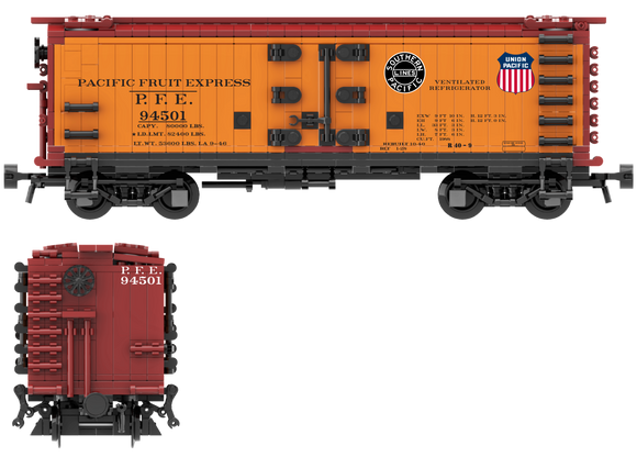 Pacific Fruit Express 1946 Scheme Decals for the R-30-9 and R-40-9 Reefer