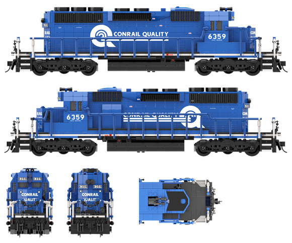 Conrail Quality Paint Scheme Decals for the SD40-2
