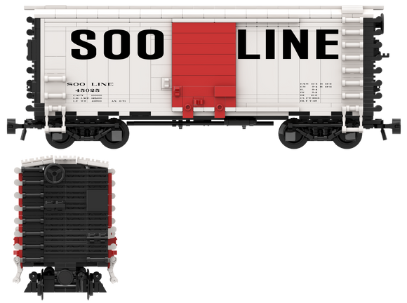 SOO LINE Decals for the Pullman PS-1 Boxcar