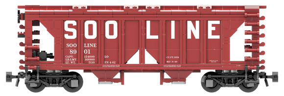SOO Line Decals for the ACF 70-Ton 1958 Cu. Ft. Covered Hopper