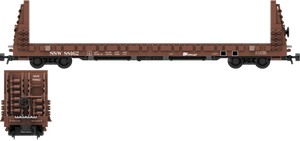 "Southern Pacific Cotton Belt Decals for the Thrall 61'-1"" Bulkhead Flatcar"