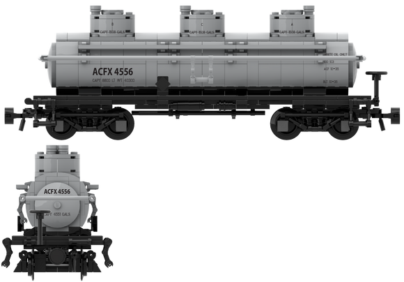 Shippers Car Line Decals for the ACF Type 27 Tank Car