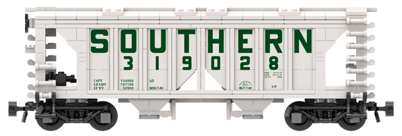 Southern Decals for the ACF 70-Ton 1958 Cu. Ft. Covered Hopper