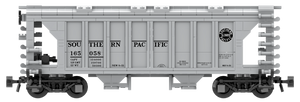 Southern Pacific Decals for the ACF 70-Ton 1958 Cu. Ft. Covered Hopper