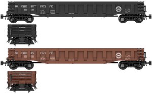 "Southern Pacific ""As Delivered"" Decals for the ACF G31a 52'-6"" 70 Ton Drop-End Gondola"