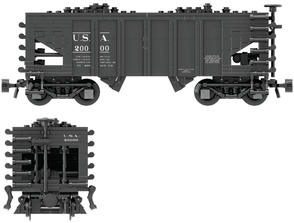 USA Railroads Decals for the USRA 55-Ton Hopper