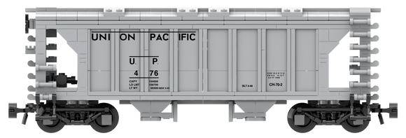 Union Pacific Decals for the ACF 70-Ton 1958 Cu. Ft. Covered Hopper