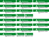 "Weyerhaeuser Lumber Load Decals for the Thrall 61'-1"" Bulkhead Flatcar"