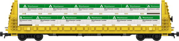 Weyerhaeuser Lumber Load Decals for the Thrall 61'-1