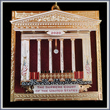 2020 Ornament, Supreme Court Bench w/ Drapery