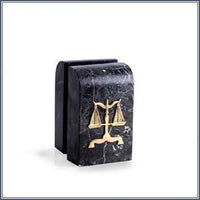 Black Marble Scales of Justice Bookends