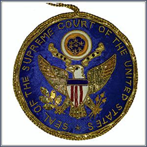 Ornament - Embroidered SC Seal