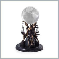 Statue - LJ Trio Seated w/Globe