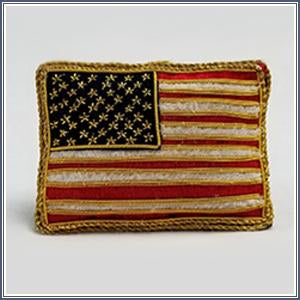Ornament - Embroidered Flag