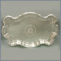 Pewter - Chippendale Tray, 9""