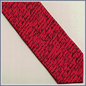 Tie - Pres. Signatures, Red