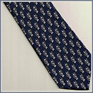 Tie - Small Lady Justice, Navy