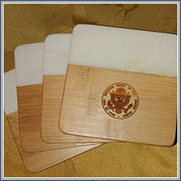 Coaster - Marble and Bamboo