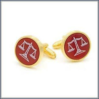 Cufflink - Scales of Justice, Red Cornelian