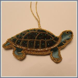 Ornament - Embroidered Turtle