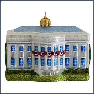 Ornament - White House, Glass