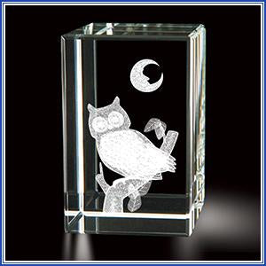 Paperweight - Crystal Owl