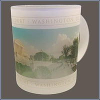 Mug - Frosted Panaramic Supreme Court Building