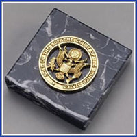 Paperweight - 3x3 Seal, Black