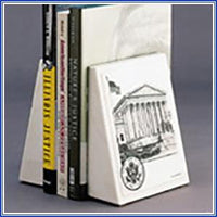 Bookend - SC Bldg, White Marble