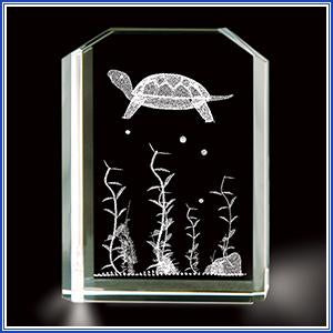 Paperweight - Crystal Turtle