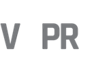 V8PR.uk Grey Footer Logo