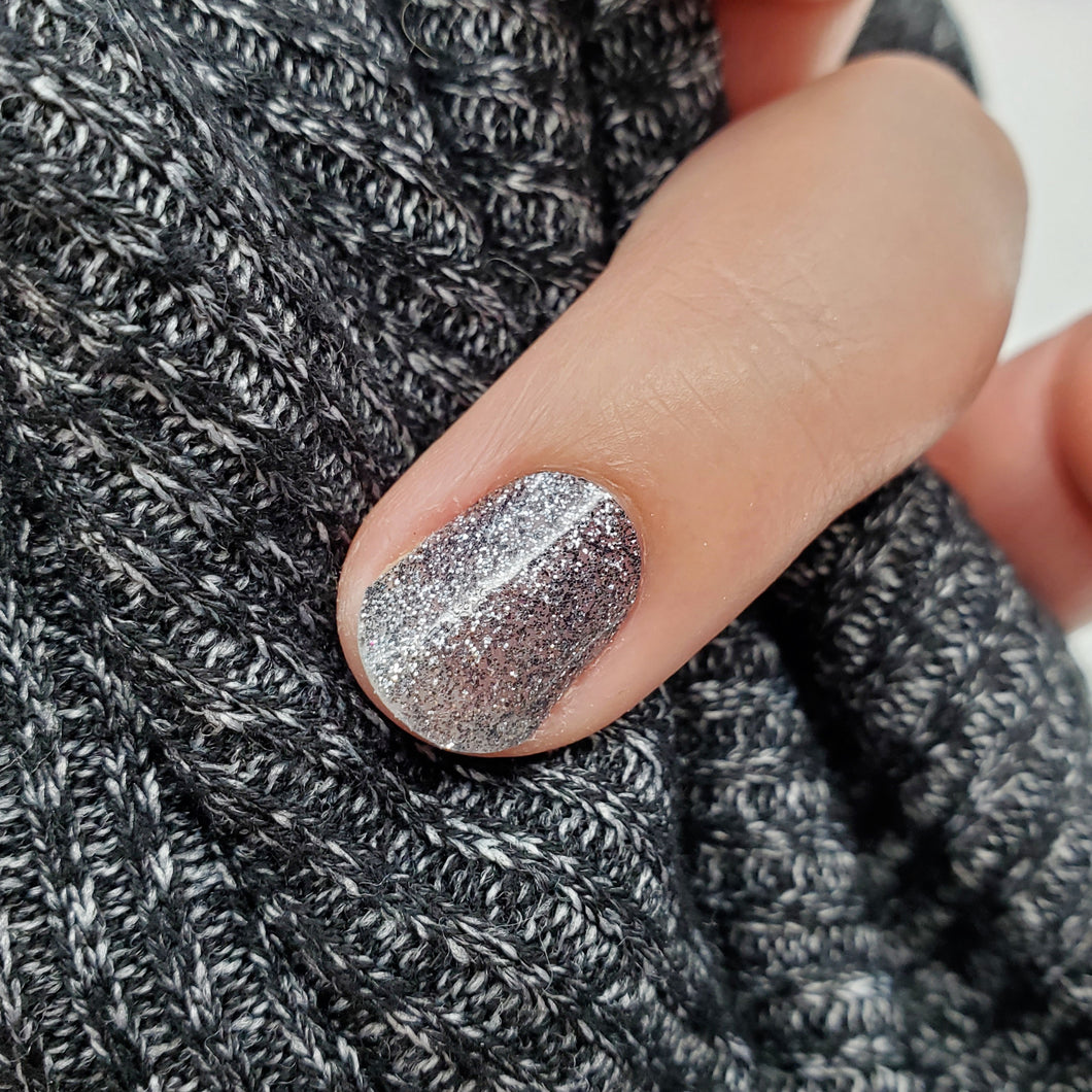 Charcoal glitter accents