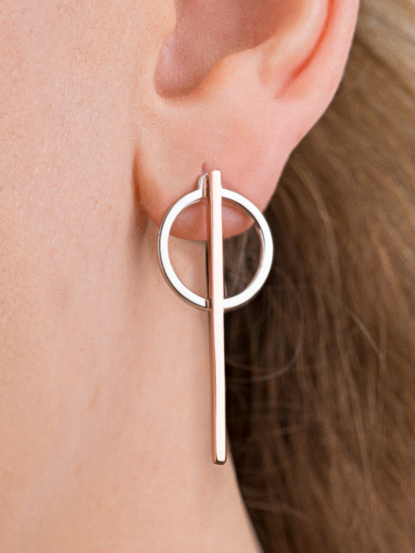 18k Rose Gold Plated Sterling Silver Earrings
