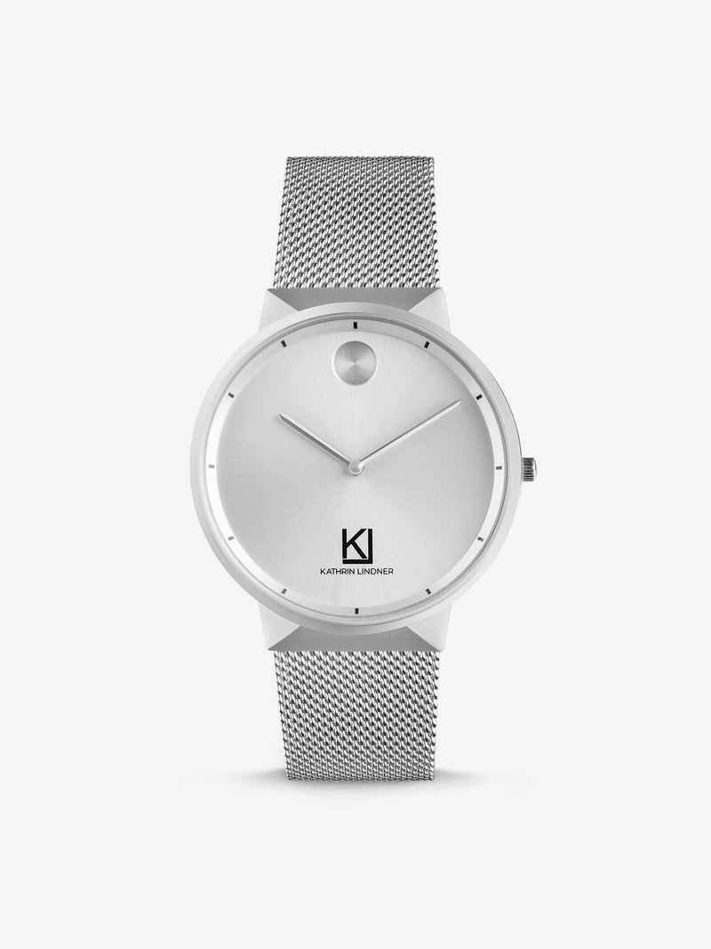 silver mesh strap mens watch
