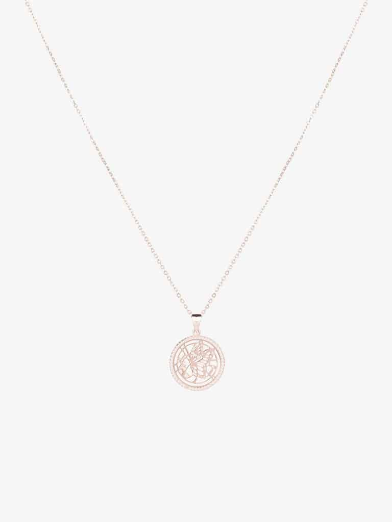 butterfly rose gold sterling silver necklace