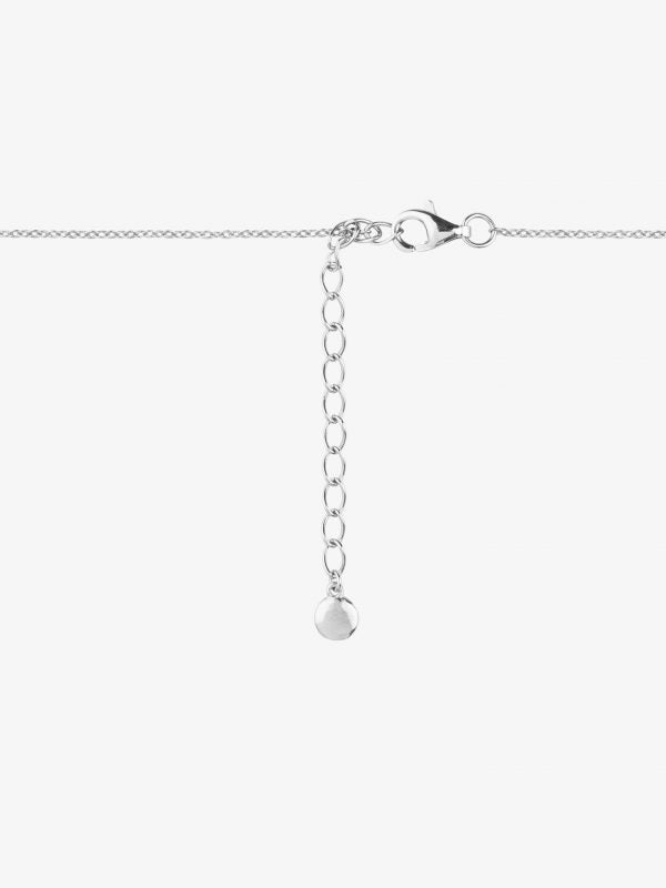 'Éternité' Double chain sterling silver necklace