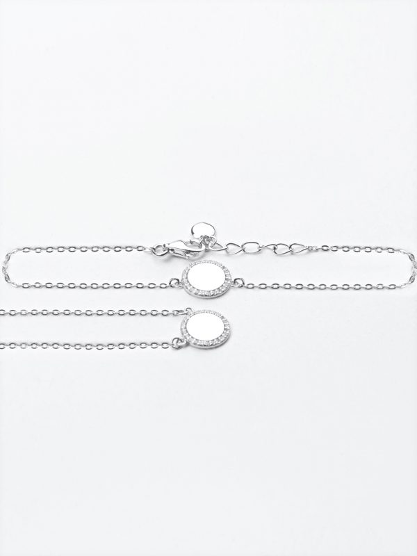 necklace and bracelet set silver