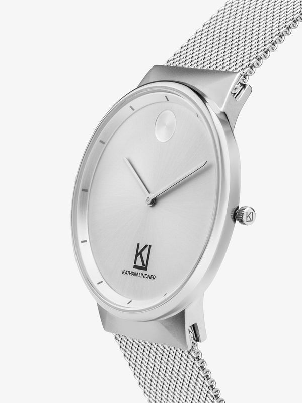 silver mesh strap womens watch