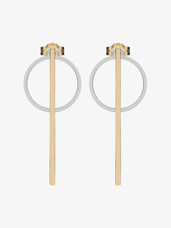 round gold-plated sterling silver earrings