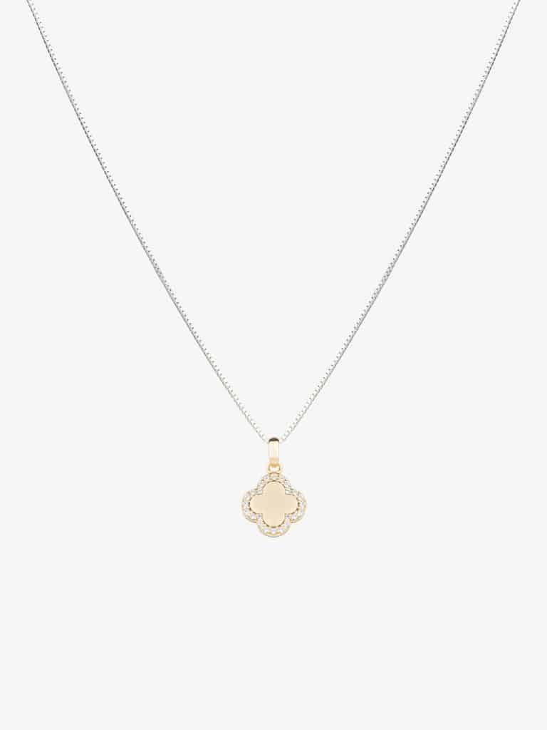 18k gold plated sterling silver necklace