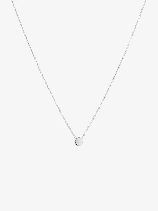 silver plated round sterling silver necklace