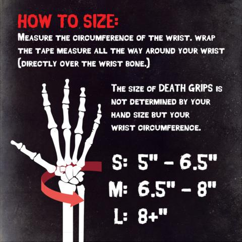 Death grips size chart