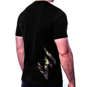 Men's JerkFit Side Camo T-Shirt Black