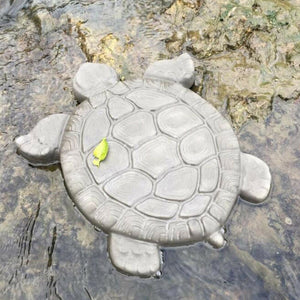 Concrete Cement Turtle Shape Manual Landscape Road Reusable Outdoor Tool Garden Decor Black Stepping Stone Paving Mold Driveway