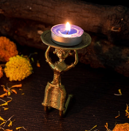 Dokra Candle Stand