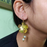 Flower Dangle Floral Statement Earrings EB16