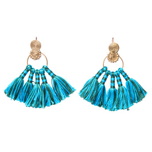 Mini Brass Tassel Earrings DEr12A-8