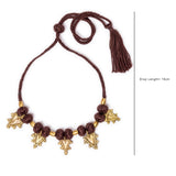 Black Gold Tone Choker Necklace CD1928c
