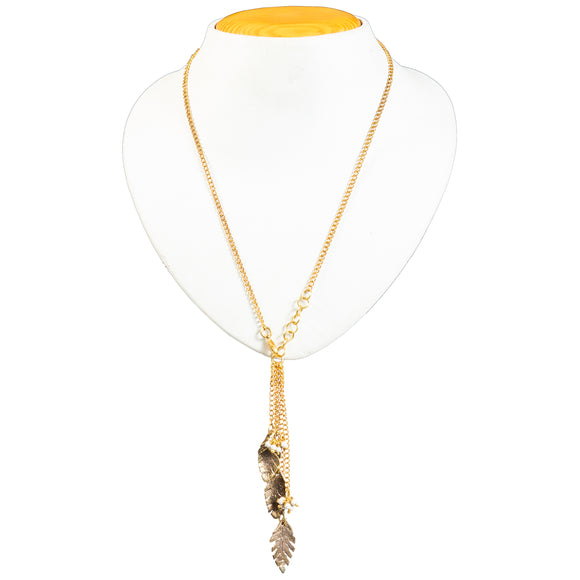 Gold Chain Leaf Necklace